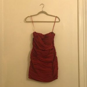 Red bodycon Express dress